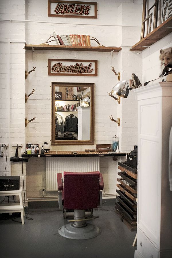 Design elements to learn from: New vanity for a vintage barbers ...