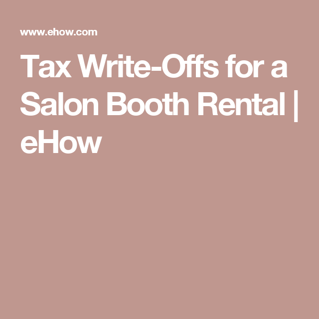 Tax Write-Offs for a Salon Booth Rental | Salons, Salon ideas and ...