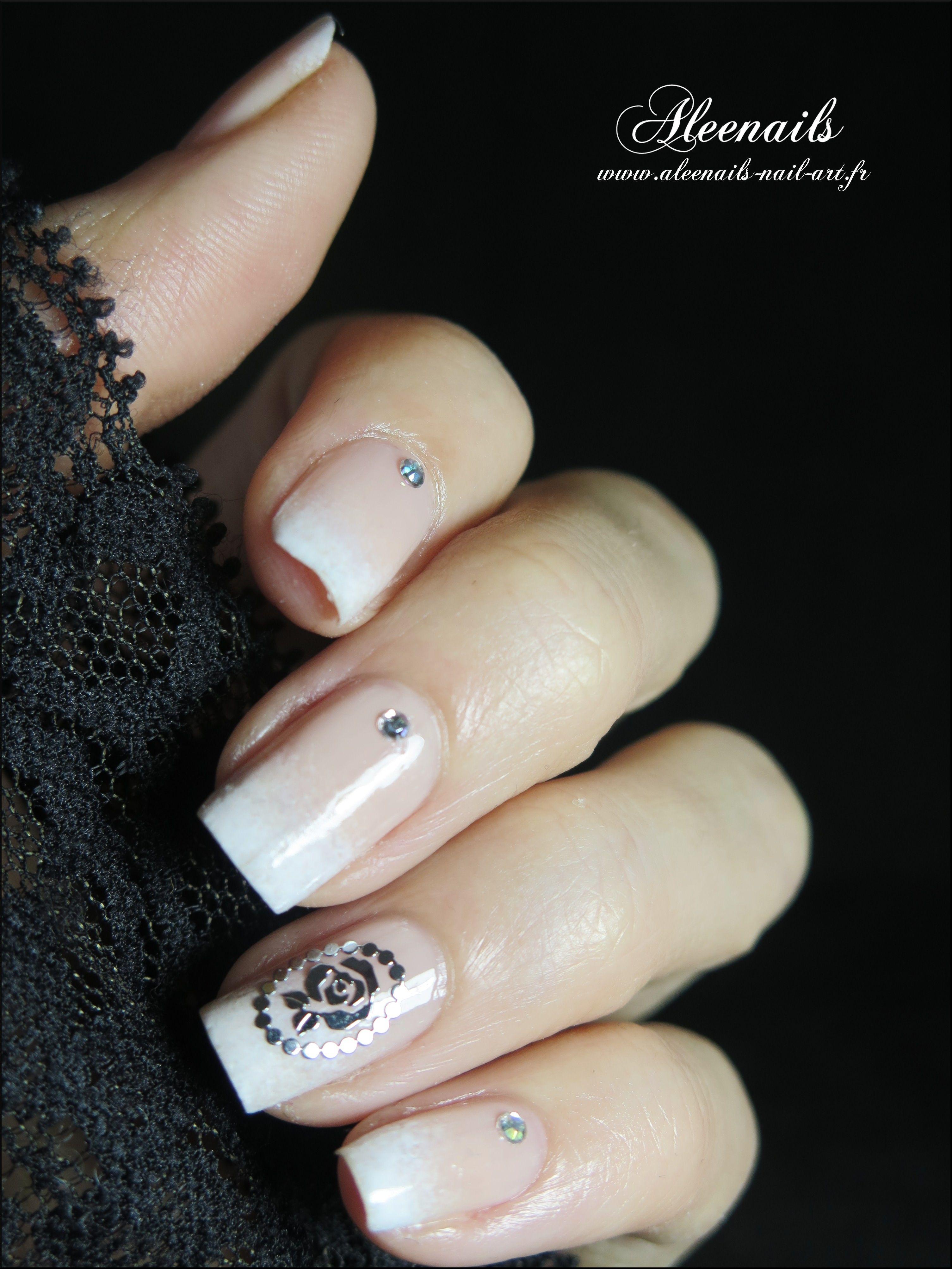 http://aleenails-nail-art.fr/babyboomer-rose-metallique/   Mani/Pedi ...