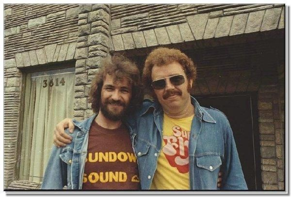 Keyboardist and Songwriter Donnie Fritts with Engineer, Producer, Guitarist - Jimmy Johnson on right
