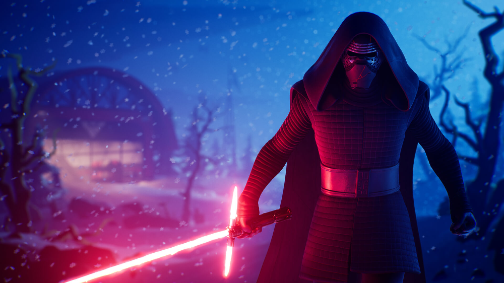 The Force Is Strong With Fortnite Ren Star Wars Kylo Ren Wallpaper Star Wars Villains