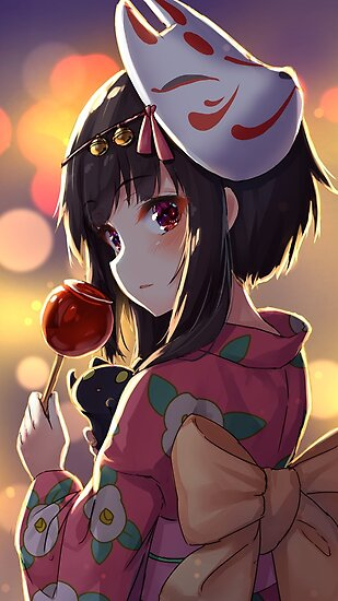 Megumin X Candy Apple In 2020 Kawaii Anime Anime Anime Kimono