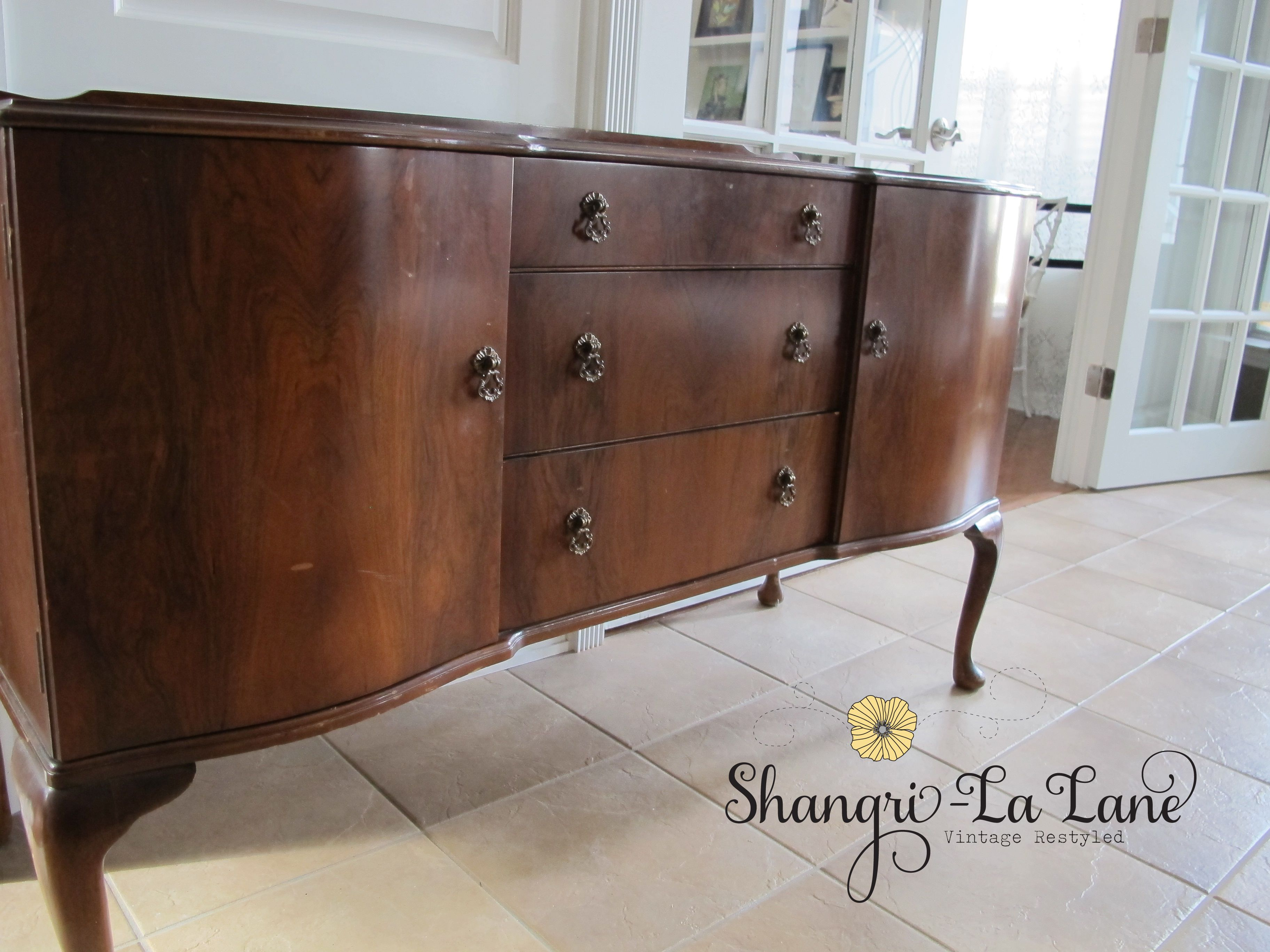 Awesome Sideboard Buffet Designs Charming With Tile Flooring And White Wall Color Also