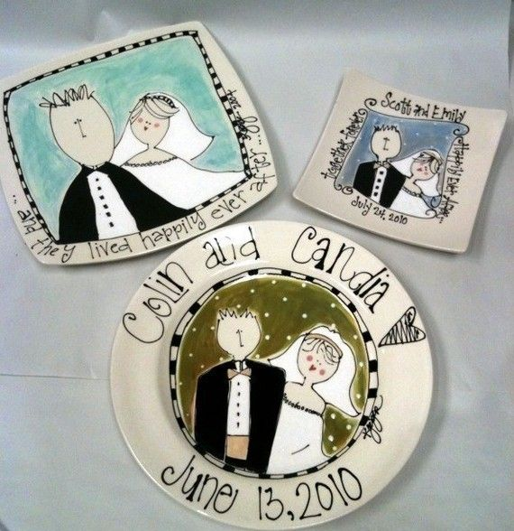 bliss wedding plate personalized with name and color for wedding