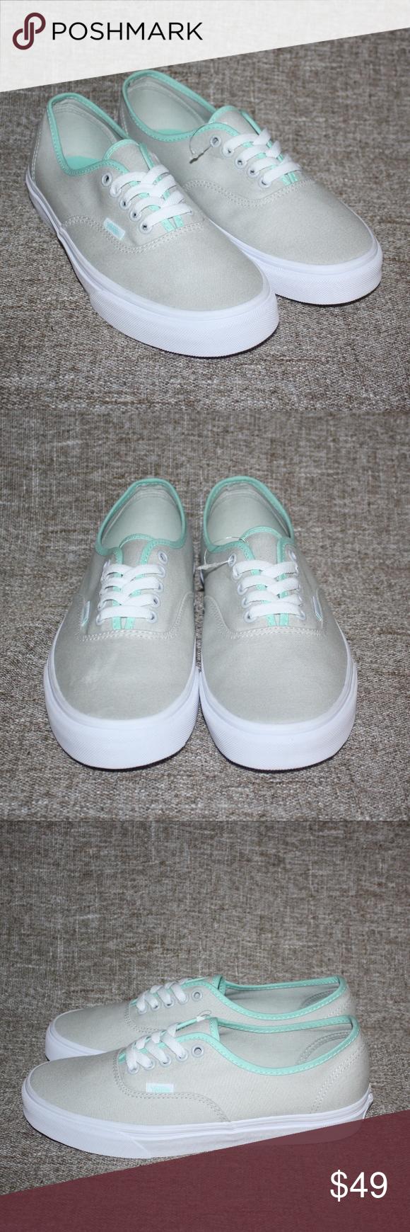vans gray \u0026 mint green authentic shoes