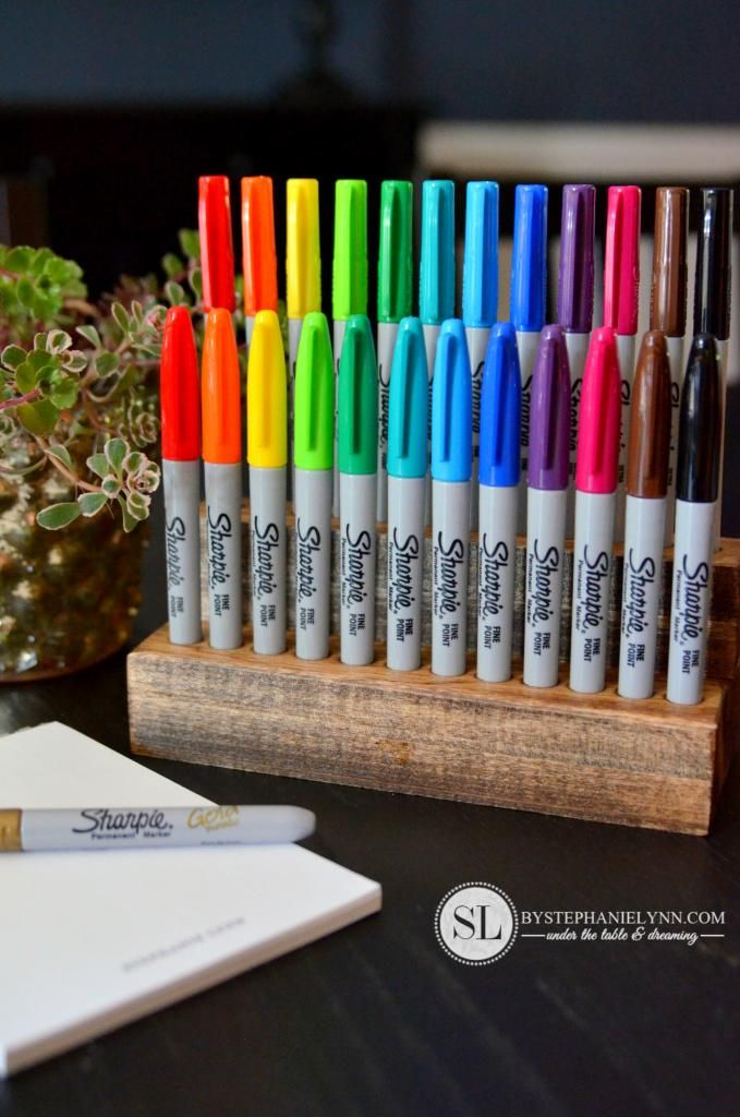 Wooden Sharpie Holder | Quiet Room Ideas | Pinterest | Pen ...