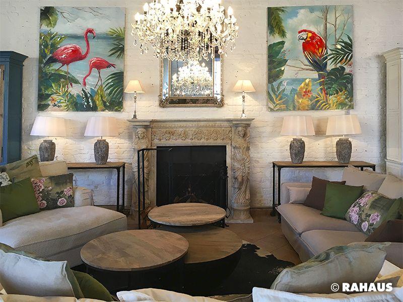 Remise Kamin Painting Flamingo Ara Sofa Kaminumrandung Stone Mirror Spiegel Light Lamp Kronleuchter Chandalier Wohnen Berlin Kaminumrandung Wohnen