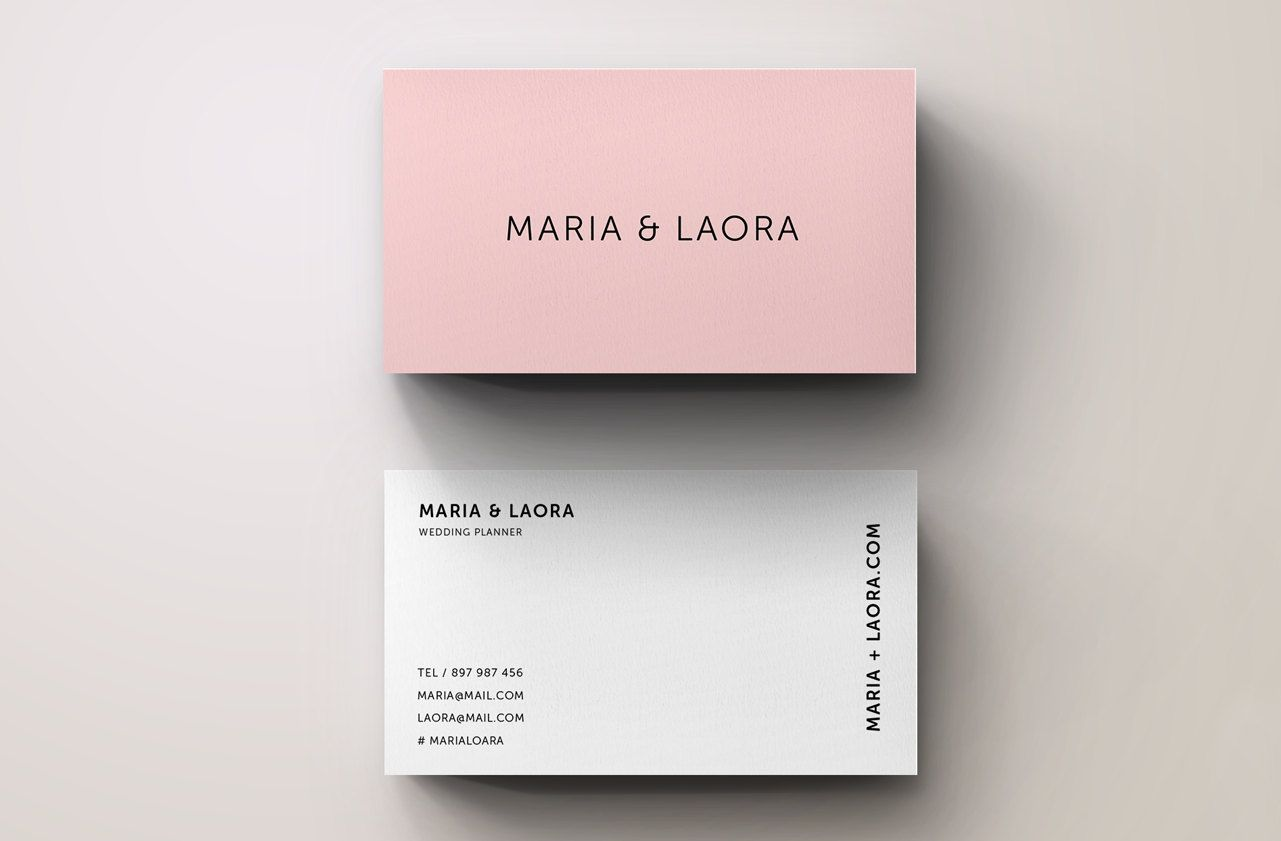 Pink modern business card template by blank studio on creative pink modern business card template by blank studio on creative market wajeb Gallery