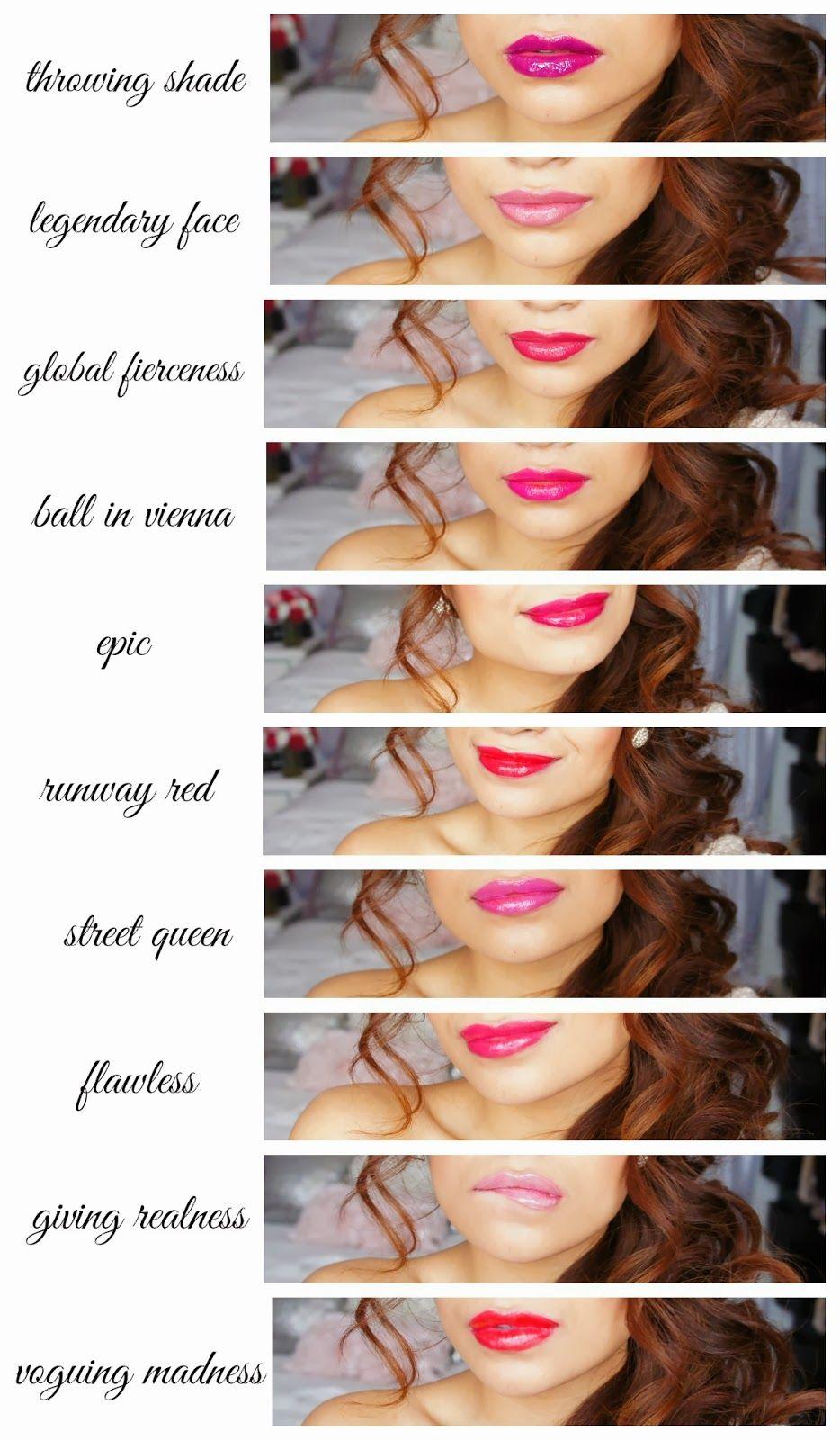 New Wet N Wild Fergie Lip Stains Shade Guide  www.BelindaSelene.com lipsticks