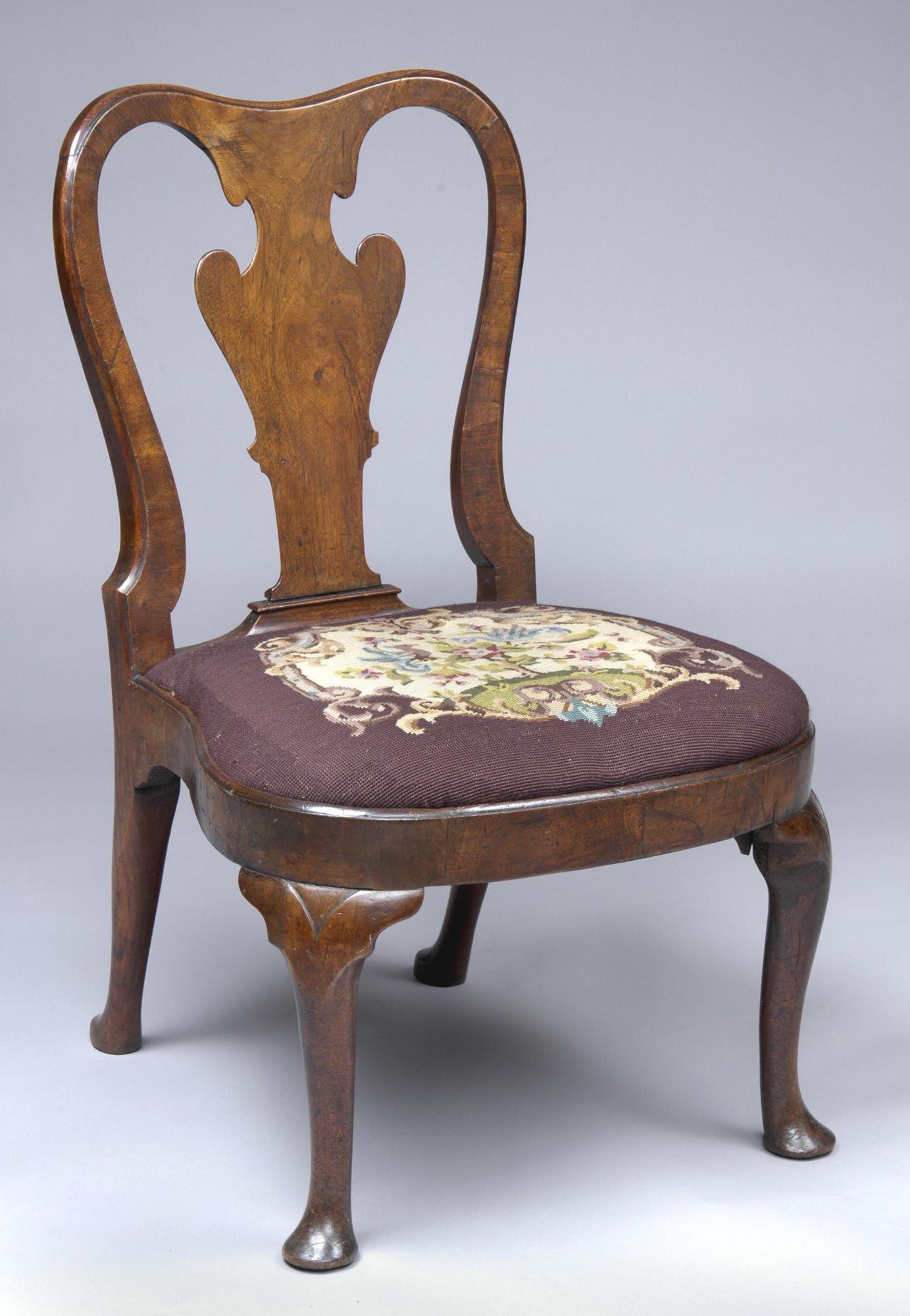 Great Queen Anne Walnut Side Chair