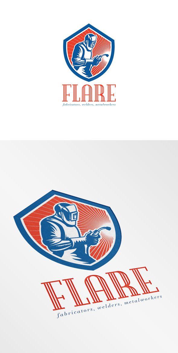 Welder Fabricator Welding Logo Graphic Design Inspiration - welder fabricator