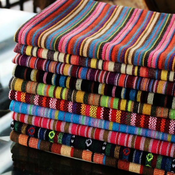 Thick Polyester Cotton Yarn Dyed Upholstery Textile Bars Restaurants Cafes Home Decoration Curtain Tablecloth Cloth Sofa Fabric Sewing Crafts Fabric Sofa Fabric