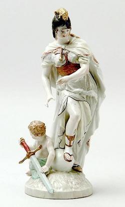 Porcelain; Herzhaftigkeit, Figural Group, Venus & Athena, 11 inch.