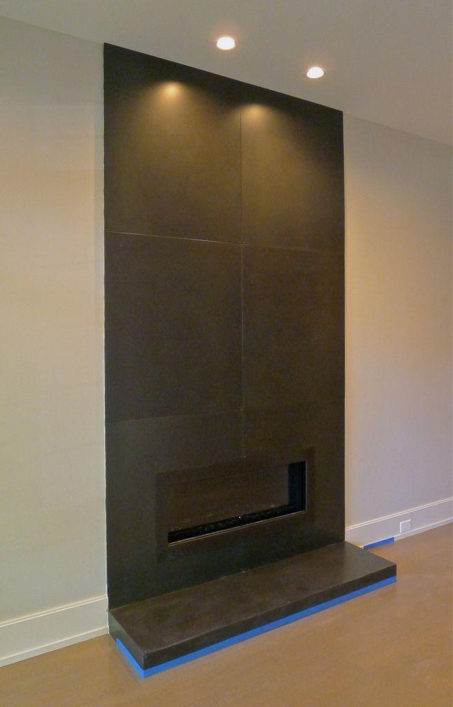 Fireplace Design metal fireplace surround : Elegant Hot Rolled Steel Fireplace   steel palette   Pinterest ...