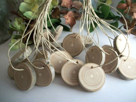 Art Supplies!  Wooden Tags  20 Red Cherry Wood Gift Tags for by EarthlyArtz, $9.95