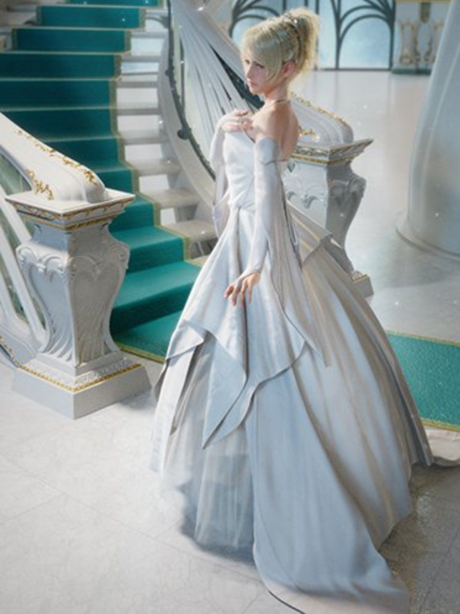 princess luna of tenebrae wedding dress final fantasy. Black Bedroom Furniture Sets. Home Design Ideas
