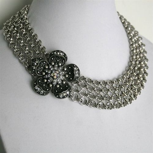 1.75 oz. Sterling silver Chainmaille plus S links  solid Sterling heavy clasp