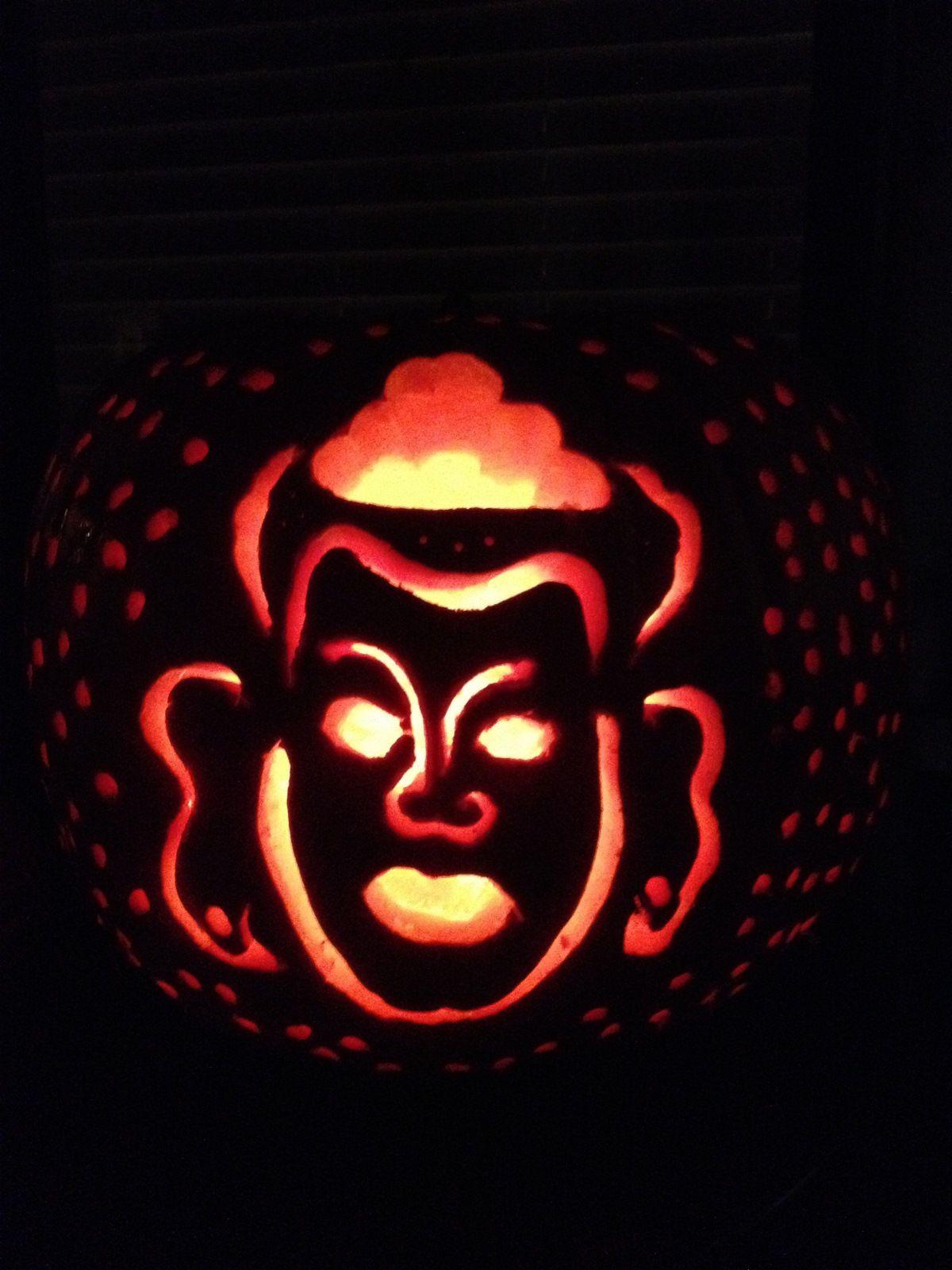 Halloween Lord Buddha Carved Pumpkin Seth Lieberman Pumpkin Carving Pumpkin Pumpkin Stencil