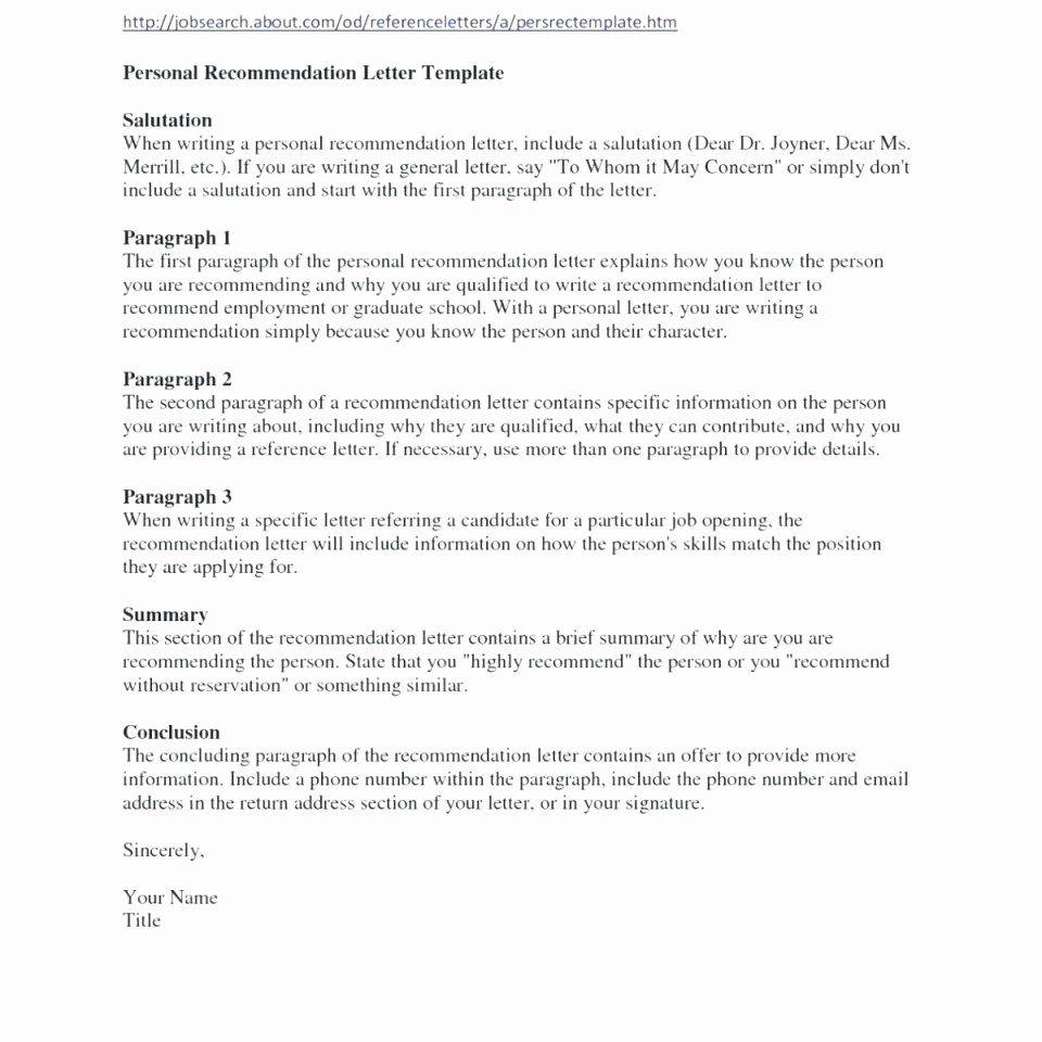 Personal letter template unique 027