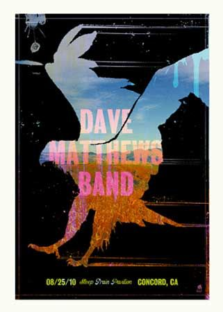 Dave Matthews Band Concord concert poster by Methane Studios