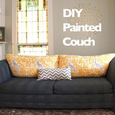 Attirant Painted Sofa {re Do} Re Do Your Old Sofa With An Out