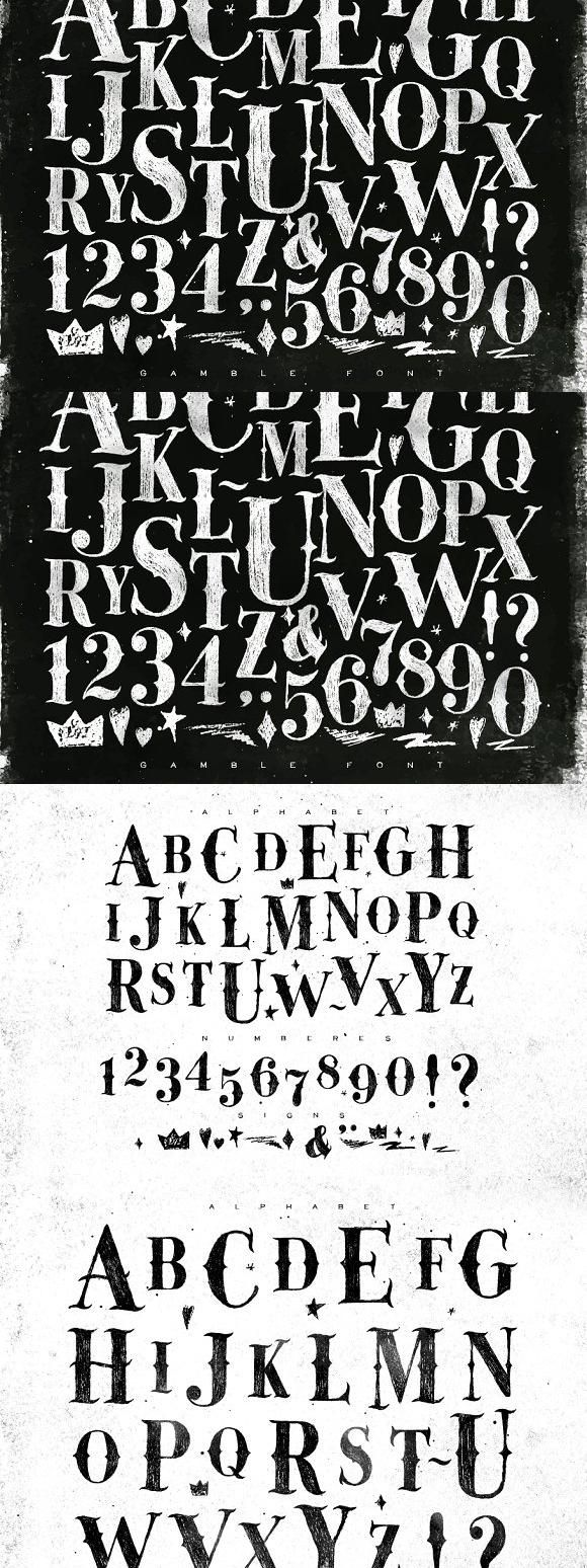 Gamble Font Vintage Graphic Design Vintage Graphics Graphic Design