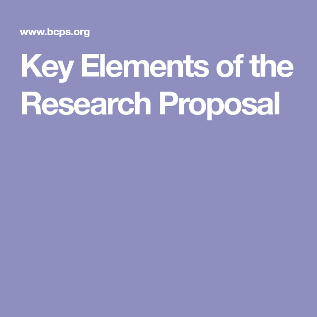 Key Elements Of The Research Proposal  Mental Health Counseling