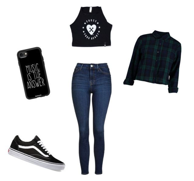 """""""Untitled #54"""" by summerfall24 ❤ liked on Polyvore featuring Topshop, Casetify, Vans and Boohoo"""