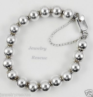 Sterling Silver Bead Chain Diamond Cut