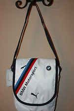 60f19c79461d NEW with TAGS PUMA BMW MOTORSPORT PORTABLE MESSENGER SHOULDER BAG PMMO1043  WHITE