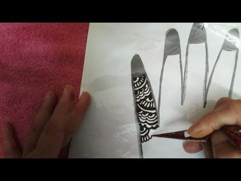 Easy Mehndi Design Idea,How To Apply Heena - YouTube