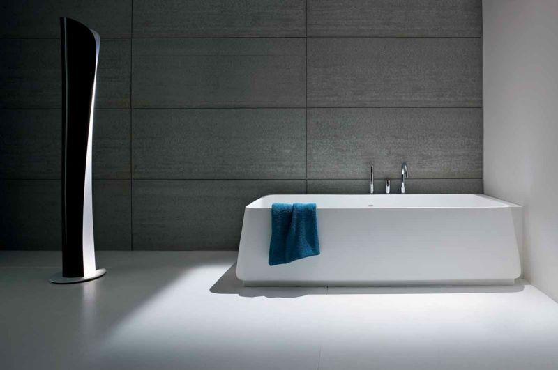badezimmer fliesen 2015 minimalistisch stil grau weiss fussboden - badezimmer weiß grau