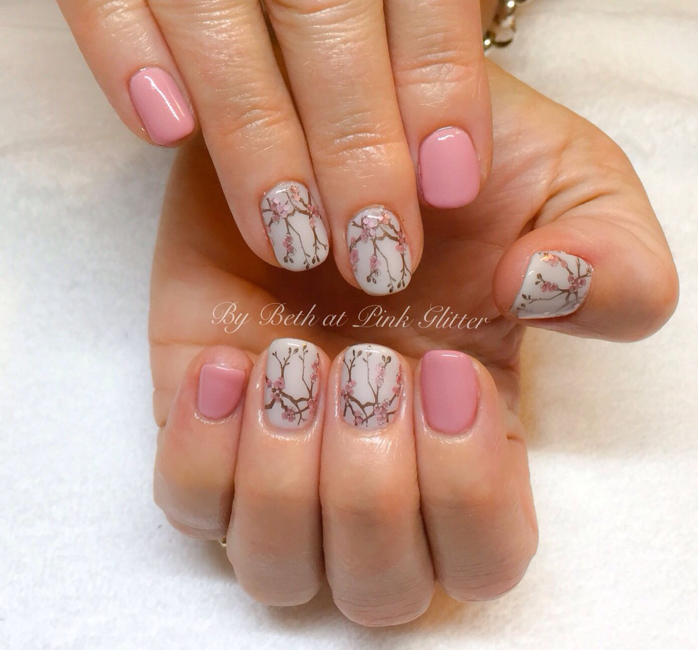 Cherry Blossom Nails | Nails | Pinterest | Cherry blossoms and Pink ...