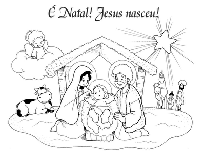 Natal Presepios E Cartoes Para Pintar Desenho De Presepio