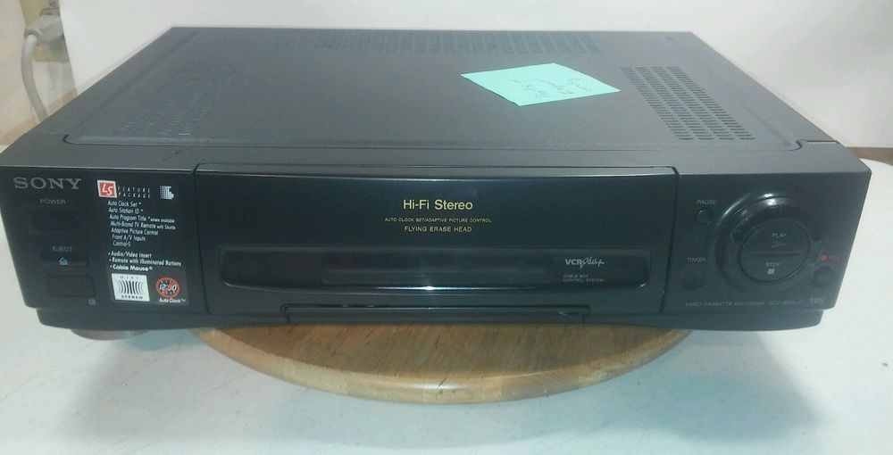 Sony Slv 940hf Vhs Vcr Hi Fi Flying Erase Head Not Working For Parts Or Repair Hifi Sony Repair