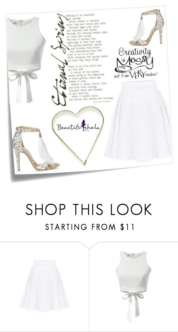 """""""Beautifulhalo"""" by ena-ena ❤ liked on Polyvore featuring Post-It, Jimmy Choo, women's clothing, women, female, woman, misses, juniors, beautifulhalo and bhalo"""