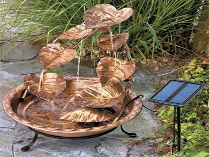 solar power water pump garden fountain fountains lowes powered small