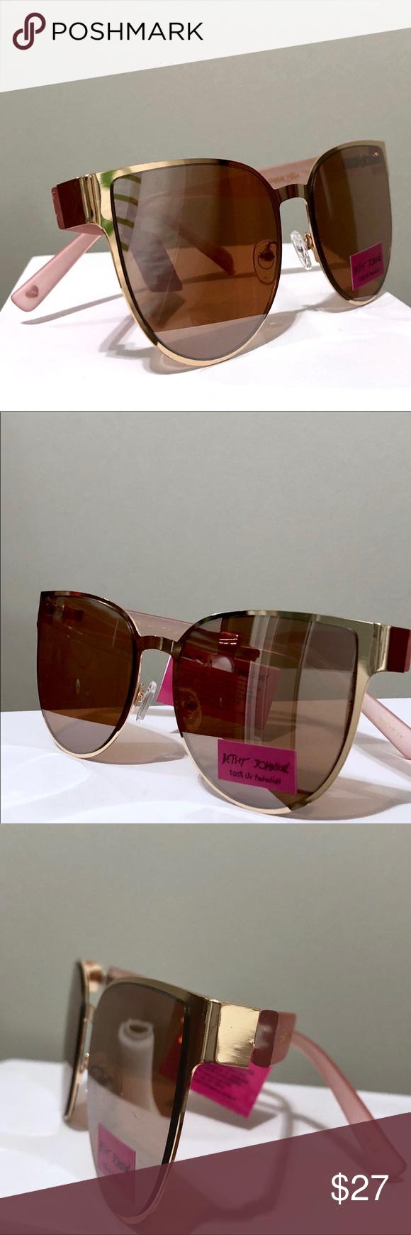20d4e23d804 Betsey Johnson Cat Eye Sunglasses Betsey Johnson Pink   Gold Metal Cat-Eye  Sunglasses -