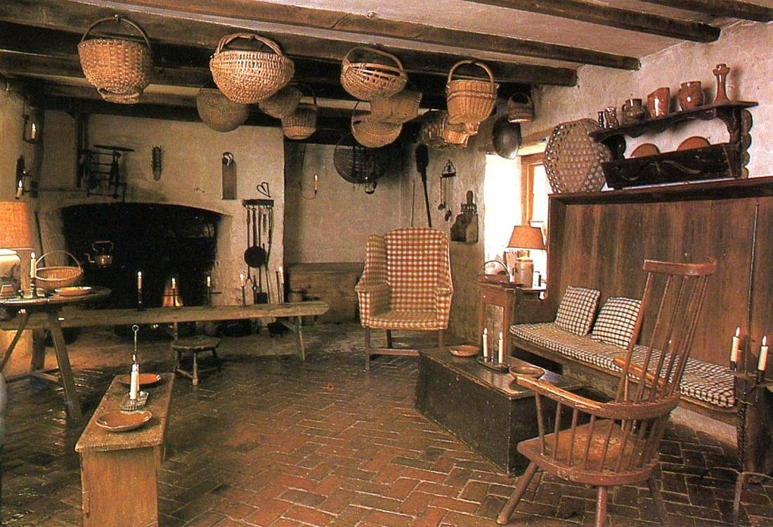Hanging Baskets Wooden Furniture Primitive Homes Decor Home