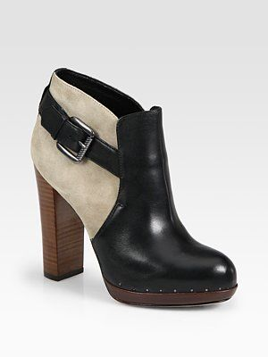 4c48cf41f7f9 Sam Edelman Lulu Two-Tone Leather and Suede Platform Ankle Boots ...
