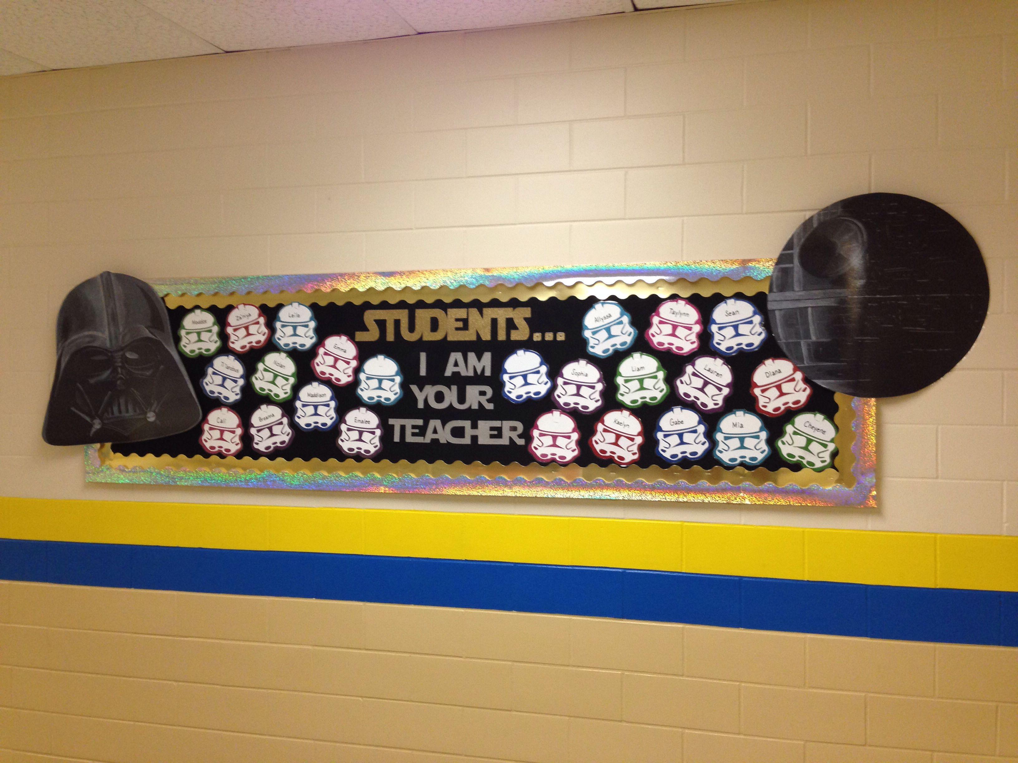 Classroom Decor Stars ~ Star wars bulletin board for back to school
