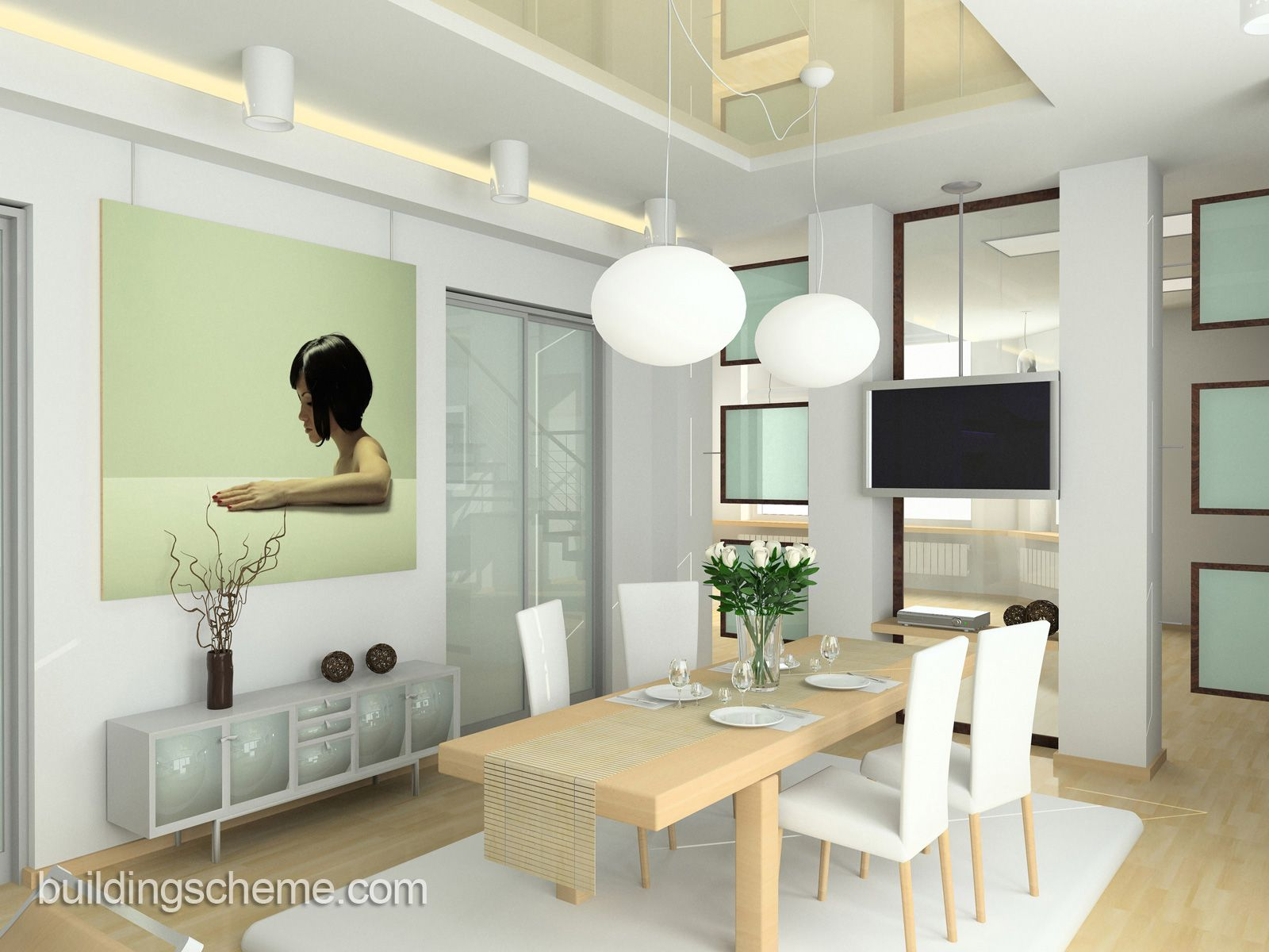 Modern Dining Room Design With Mango Wood Dining Chairs And Glass Top  Designs: Modern White Dining Tables And Chairs For Small Dining Cum Living  Room Design