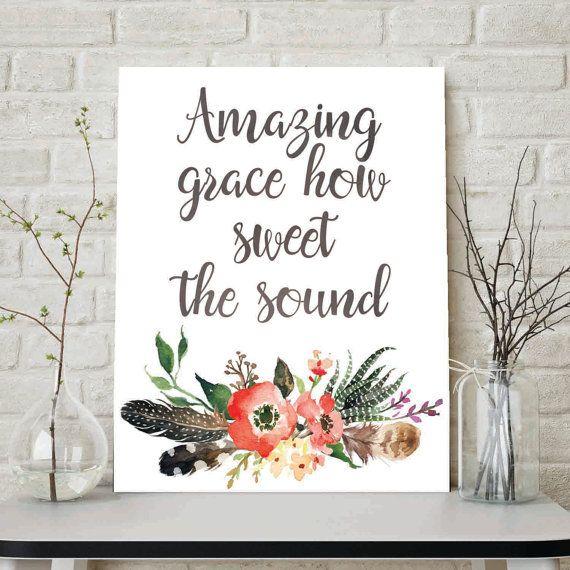 Amazing Grace How Sweet The Sound Gospel by LittleHollowPrints