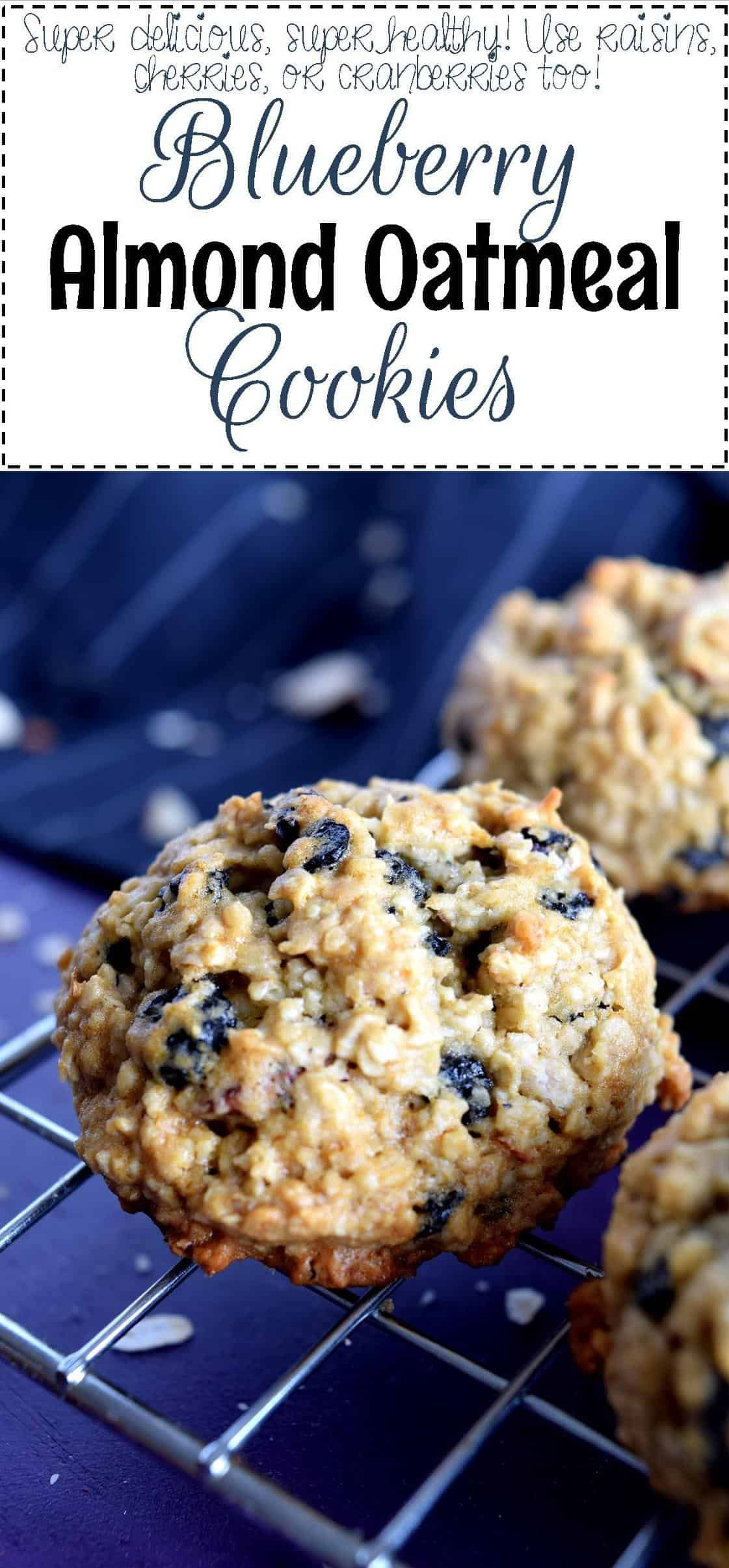 Blueberry Almond Oatmeal Cookies Lord Byron S Kitchen Blueberry Oatmeal Cookies Healthy Oatmeal Cookies Cream Scones Recipe