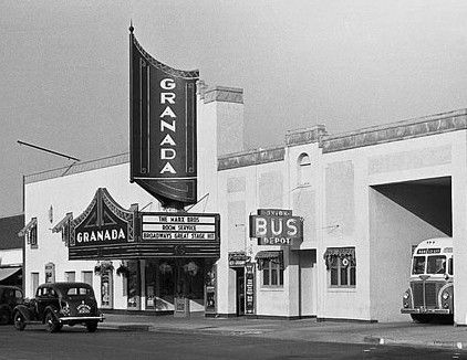 The Granada Theatre Opened In Lawrence In 1934 This Picture Is