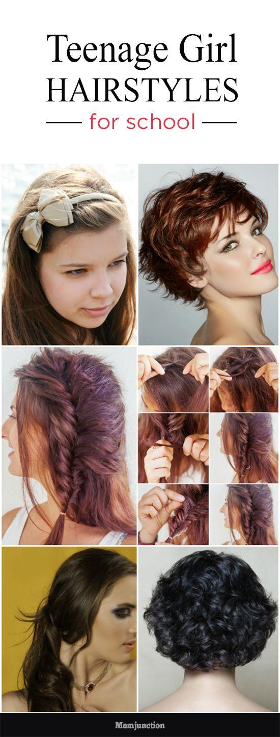 10 Cute And Easy Teenage Girl Hairstyles For School | Teen Topics ...