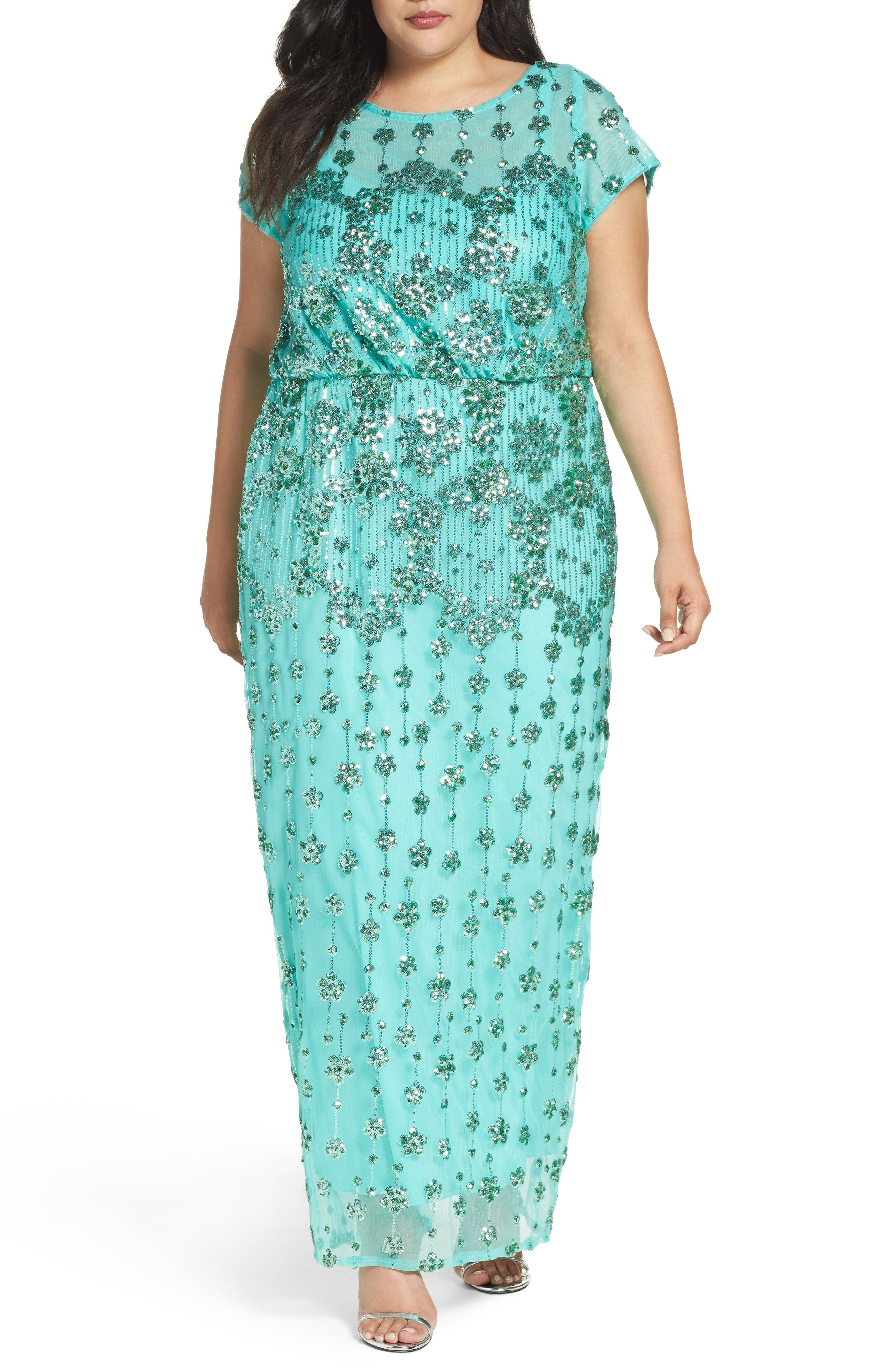 b5c10ca0bebd5 New Brianna Embellished Blouson Gown (Plus Size)