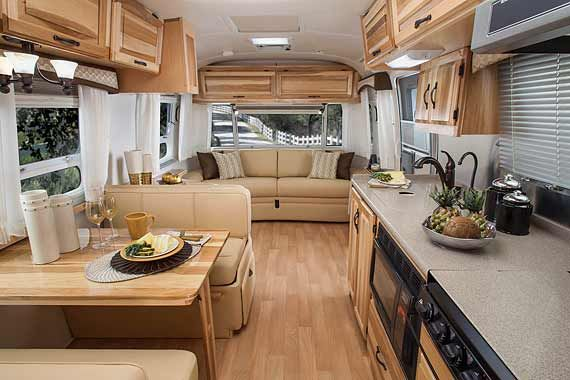 Superior Airstream Classic Travel Trailer Interior Photo