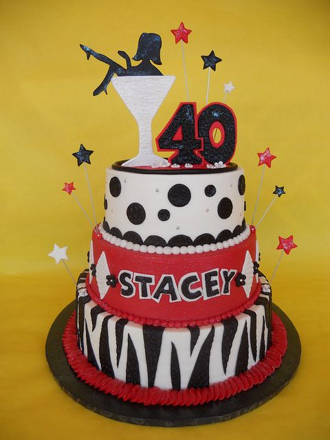 Marvelous Martini Diva 40Th Birthday Cake With Images 40Th Birthday Funny Birthday Cards Online Aeocydamsfinfo
