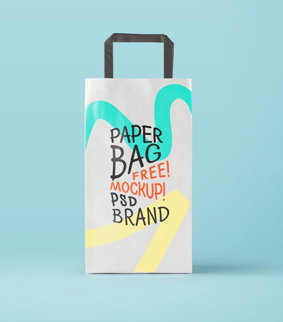 Download Free Psd Paper Bag Mockup Bag Mockup Paper Bag Design Free Packaging Mockup